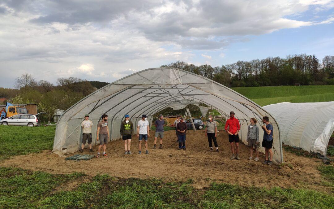Neues Tomatenhaus
